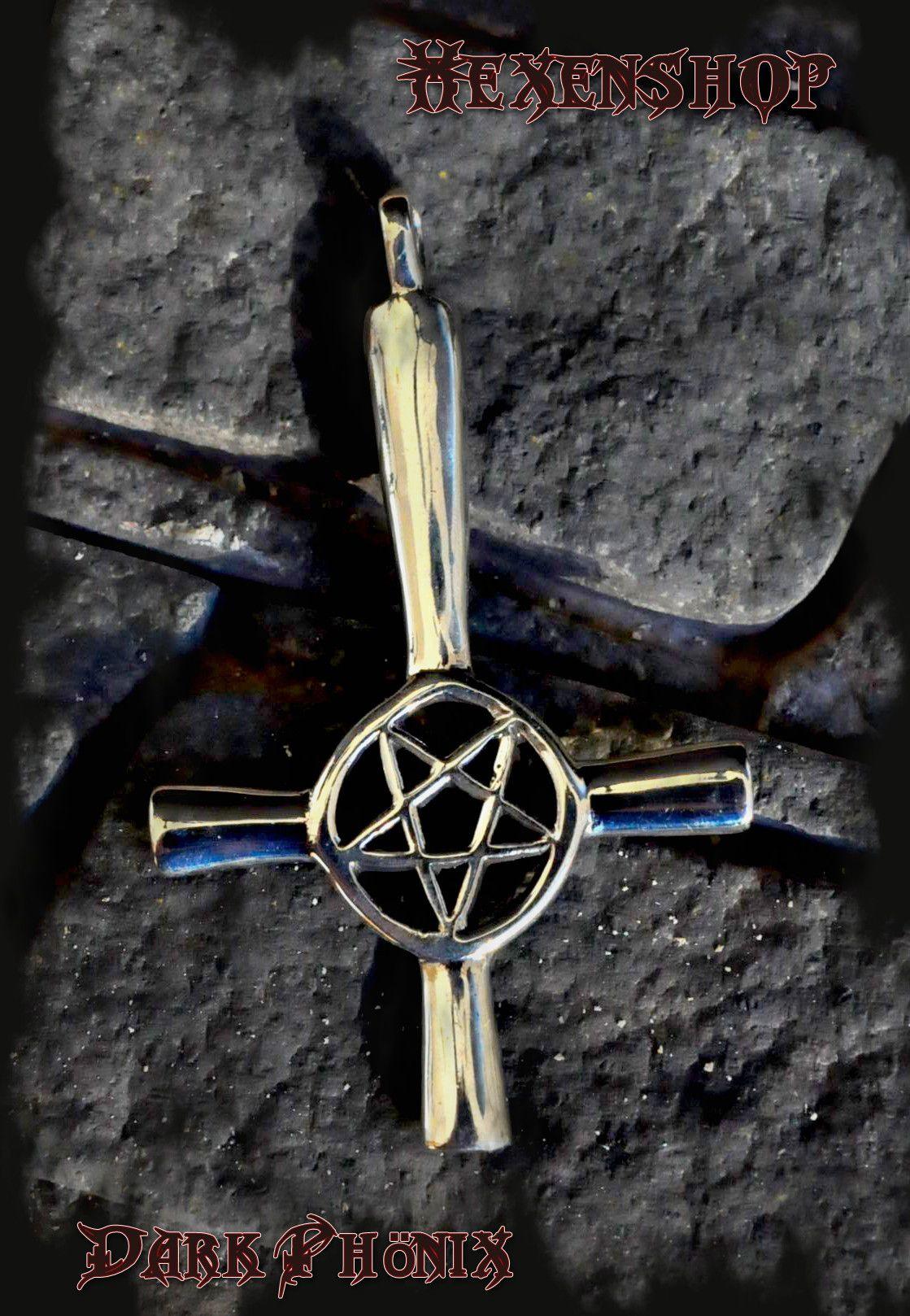 Das Satanische Kreuz Ist Das Symbol Des Linken Pfades Es Verkorpert Die Macht Der Dunklen Seite Und Die Destruktiven K Pentagramm Drudenfuss Funfzackiger Stern