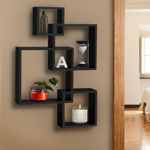 best choice products wall mounted floating shelf display decor rh pinterest com