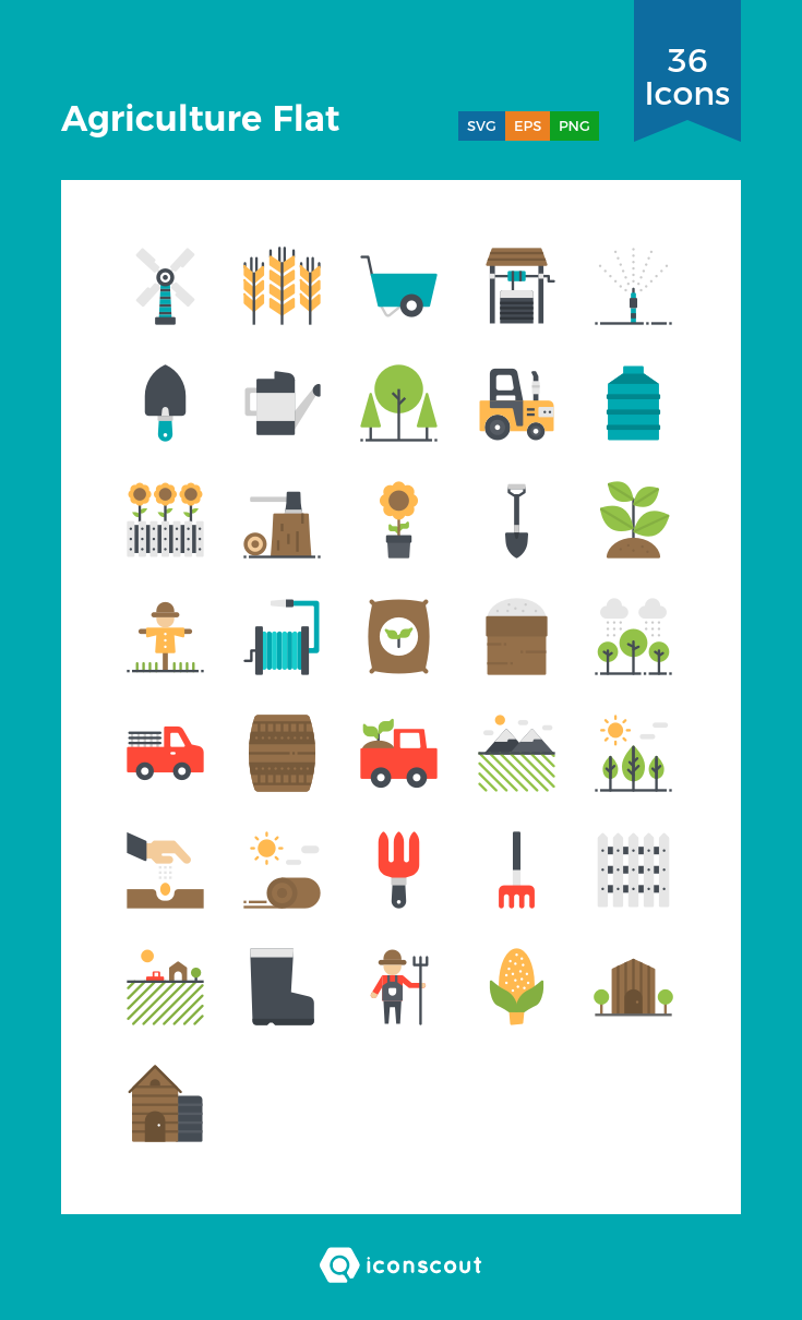 Agriculture Flat Icon Pack 36 Flat Icons Icon Flat Icon Flat Icons Set