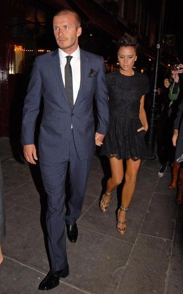 David Beckham And Victoria Beckham Out At The J Sheekey Seafood Restaurant eac01179483