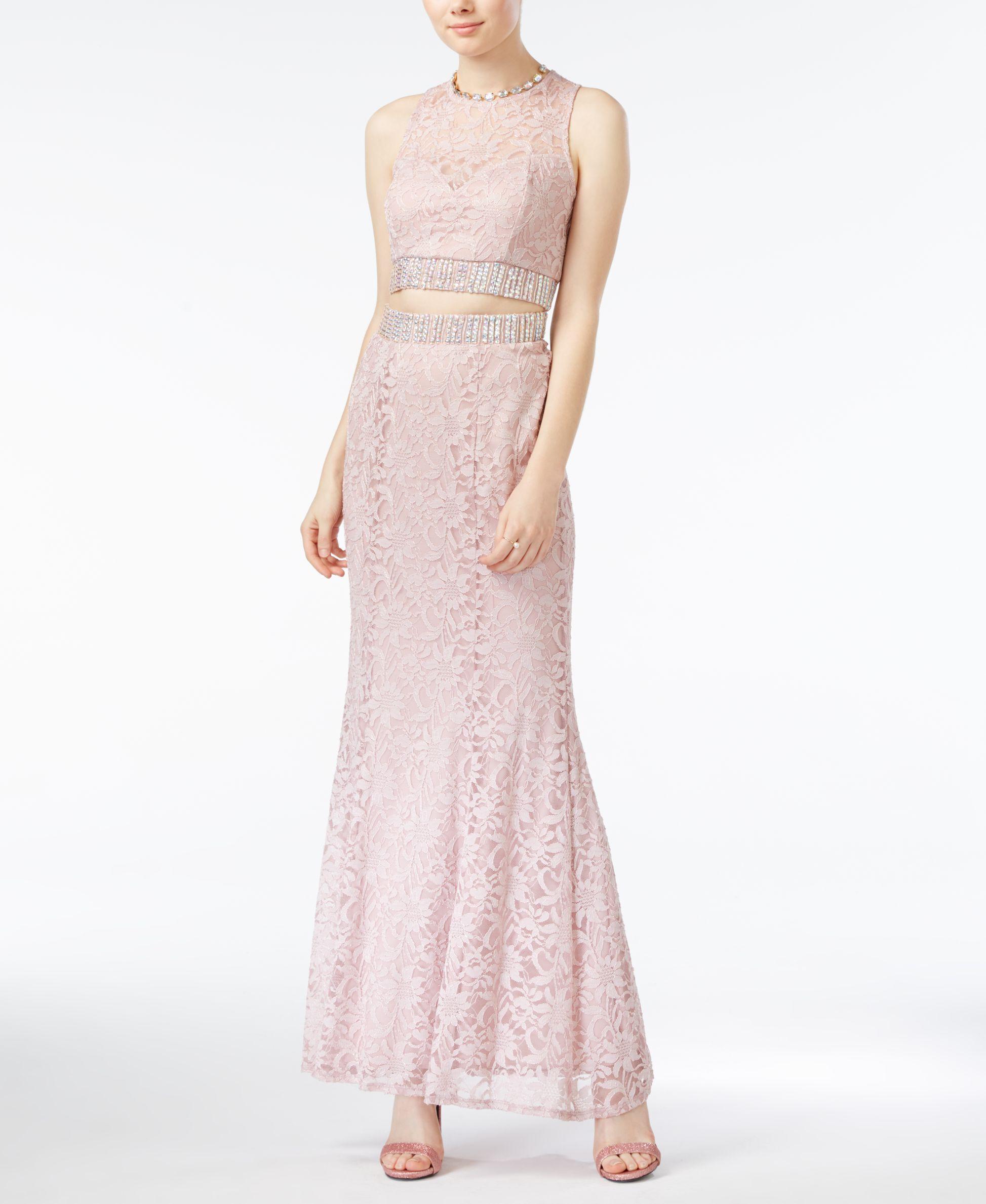 Trixxi juniorsu lace jeweltrim twopiece dress products