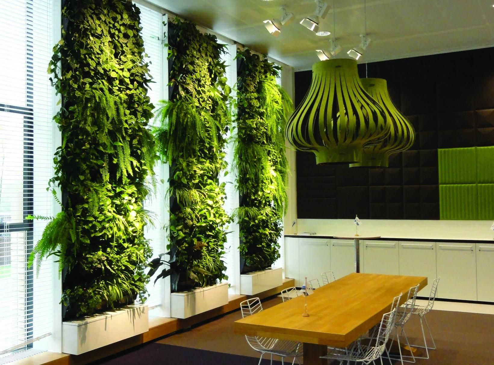 Livewall green wall system make conferences more comfortable - Artificial Vertical Garden Green Wall
