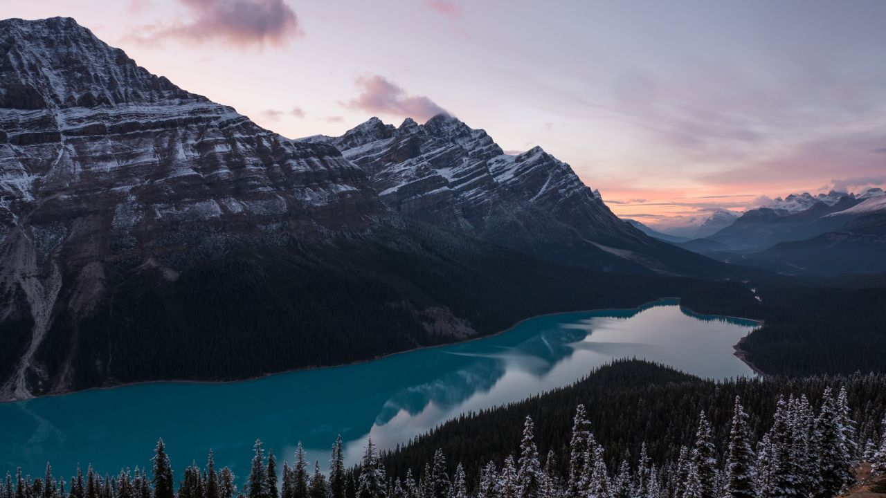 Mountains 5k 4k Wallpaper Lake Forest Horizontal