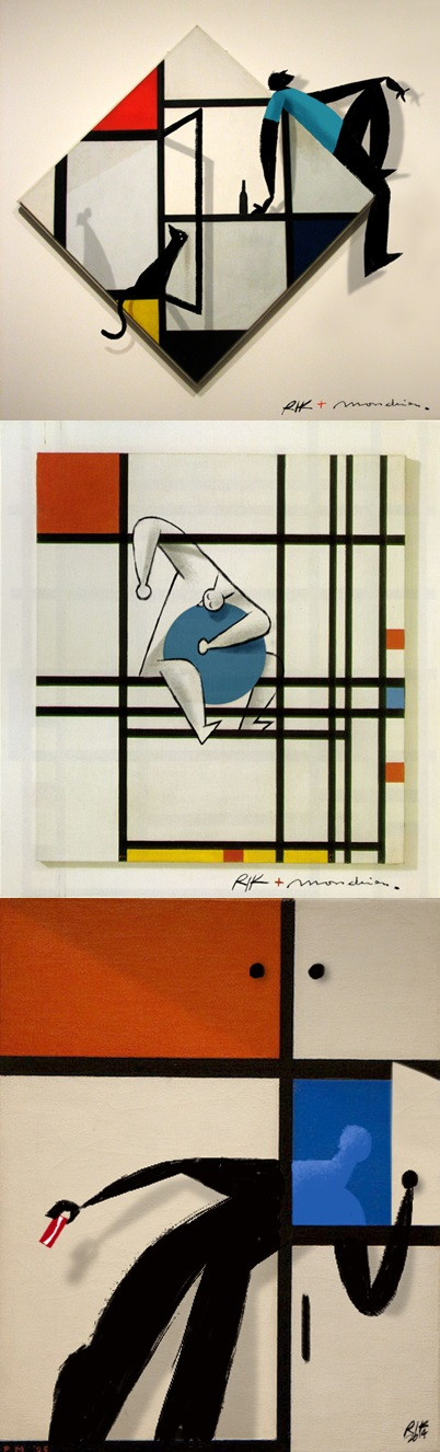 Riccardo Guasco : Digital Illustration inspired by the works of the master Piet Mondrian