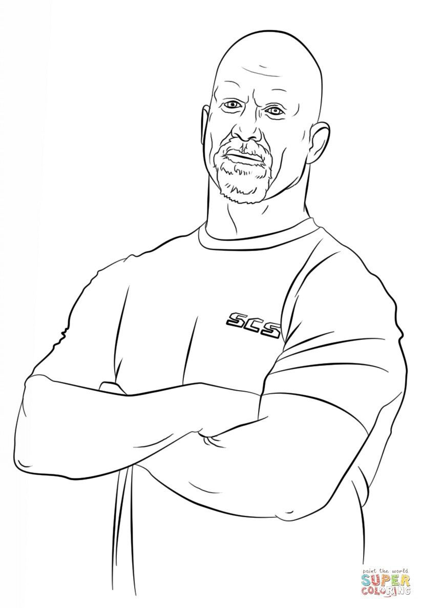 S C S Austin Wwe Coloring Pages Coloring Pages Stone Cold Steve