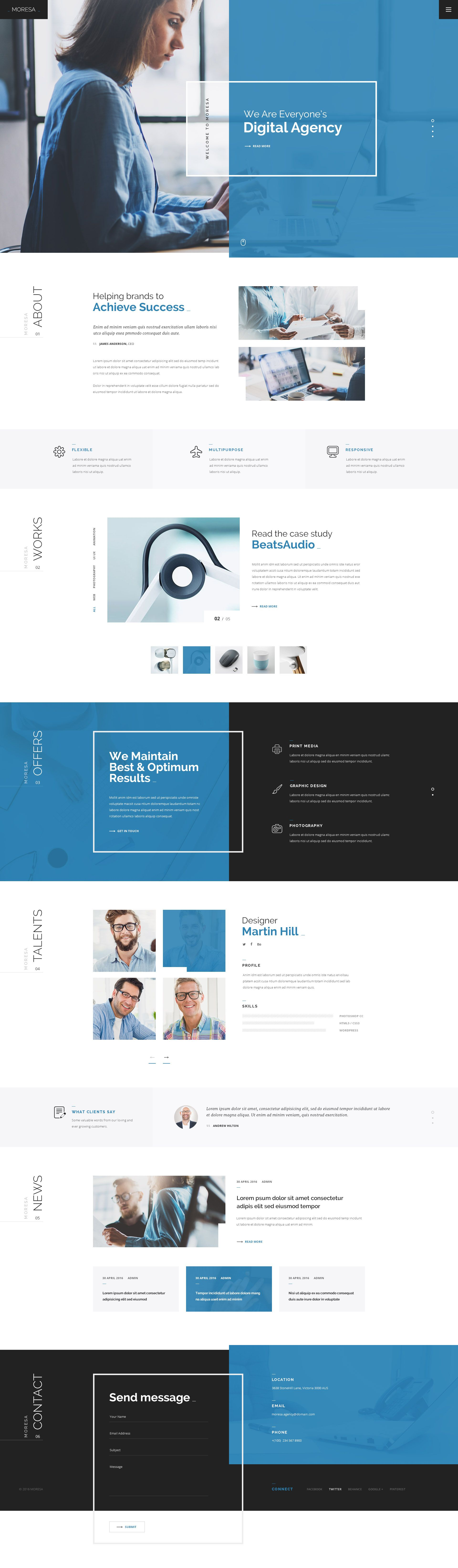 Moresa Psd Template Moresa Psd Template Web Design Web Layout Design Web Design Inspiration