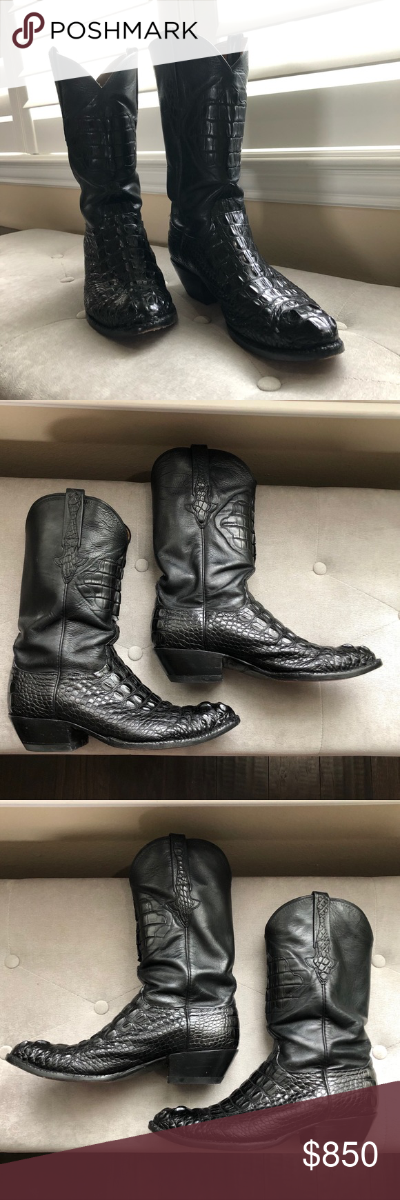 Handmade Lucchese Alligator Hornback Boots Brand Lucchese Classics Made In Usa Original Price 3 025 00 Style Number L1013 Co My Posh Picks In 2019 Boots Western Boots Selling On Poshmark