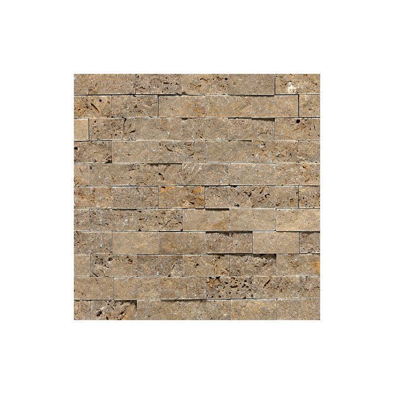 "Daltile T311-12SF1S Travertine Noce 2"" x 1"" Split Face Multi-Surface Mosaic Tile Noce Tile Multi-Surface Tile Mosaic"
