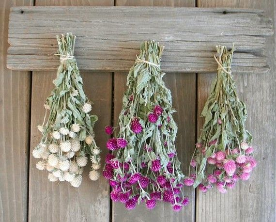 Dried Herb Decor Hook Rack For Hanging Dried Flowers Keys