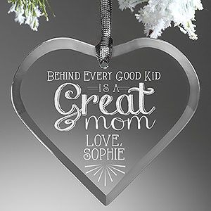 Loving Words To Her Personalized Heart Ornament