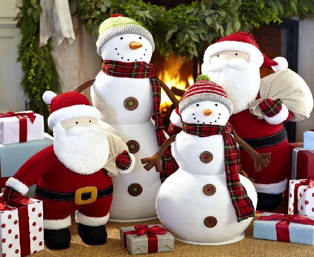 Snowman Pottery Barn Christmas Decor Christmas