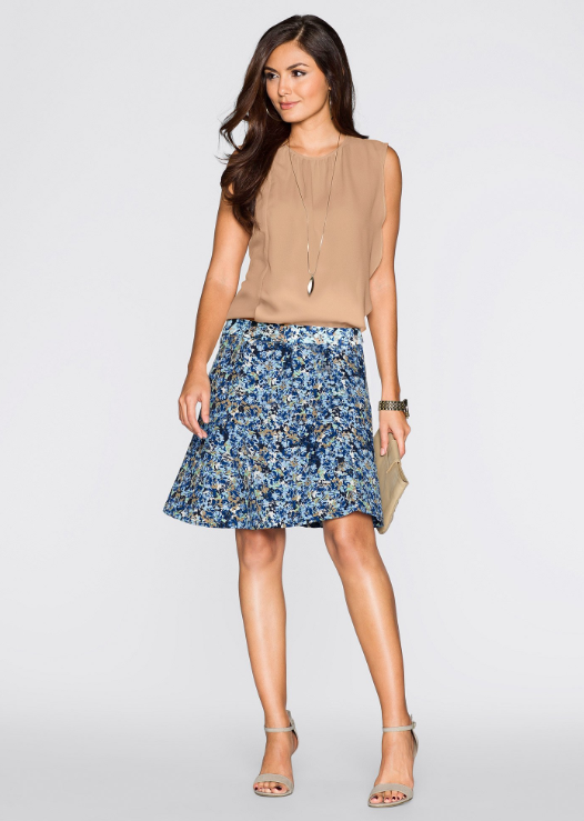 6aabe38ab spódnica damska, moda damska, koszulka, sandałki, moda online, wiosenna moda