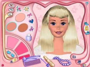Pc Game Barbie Magic Hair Styler Barbie Salon Hair Makeover