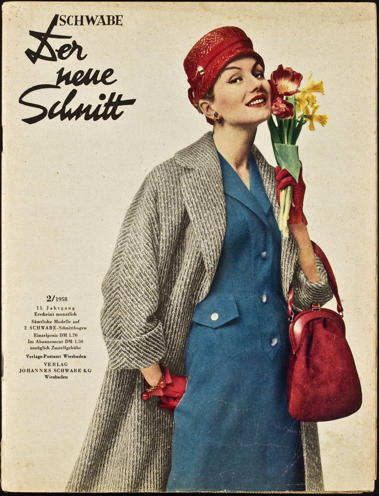1950s Fashion. Magazine Cover. \