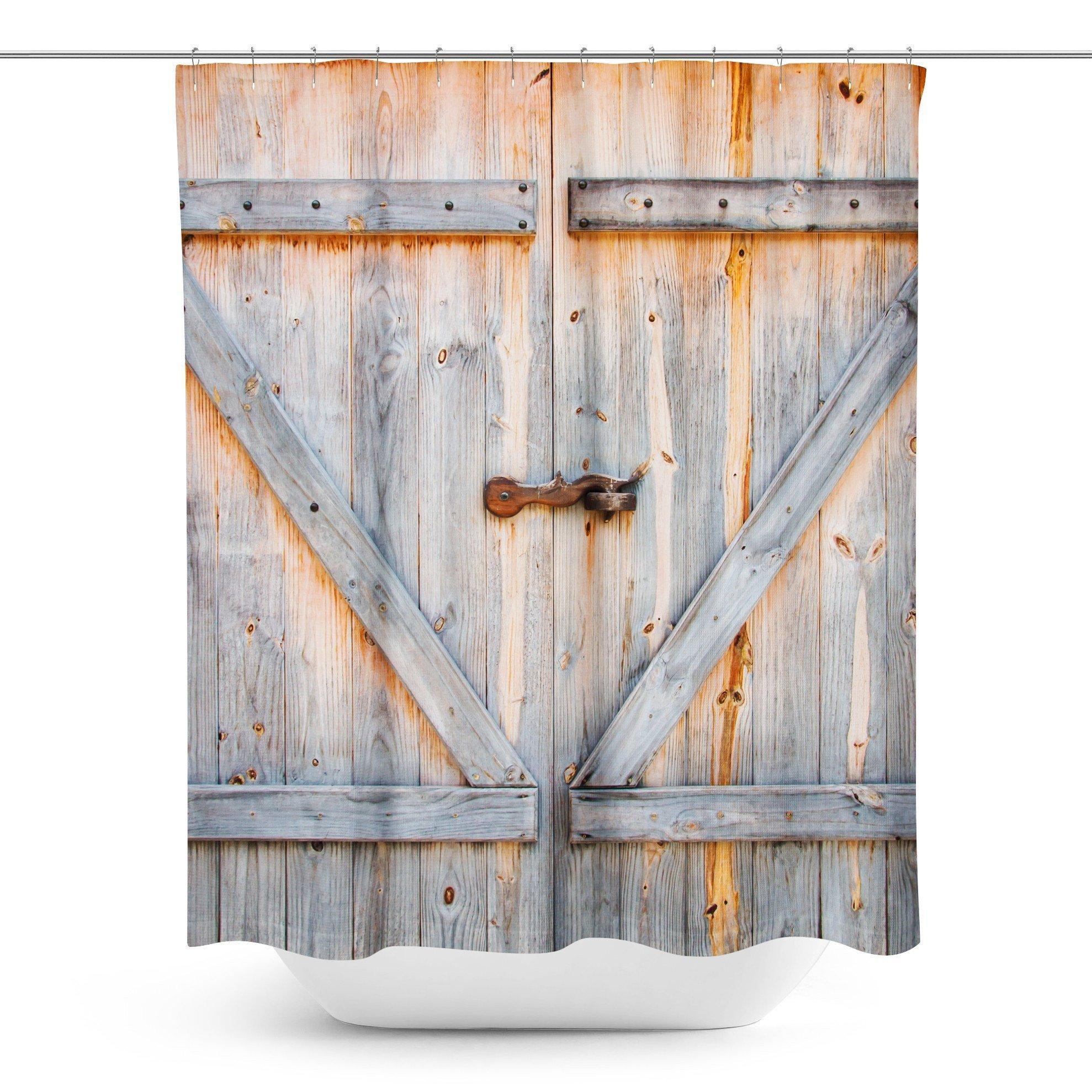 Barn Door Shower Curtain Barn Door Shower Curtain Rustic