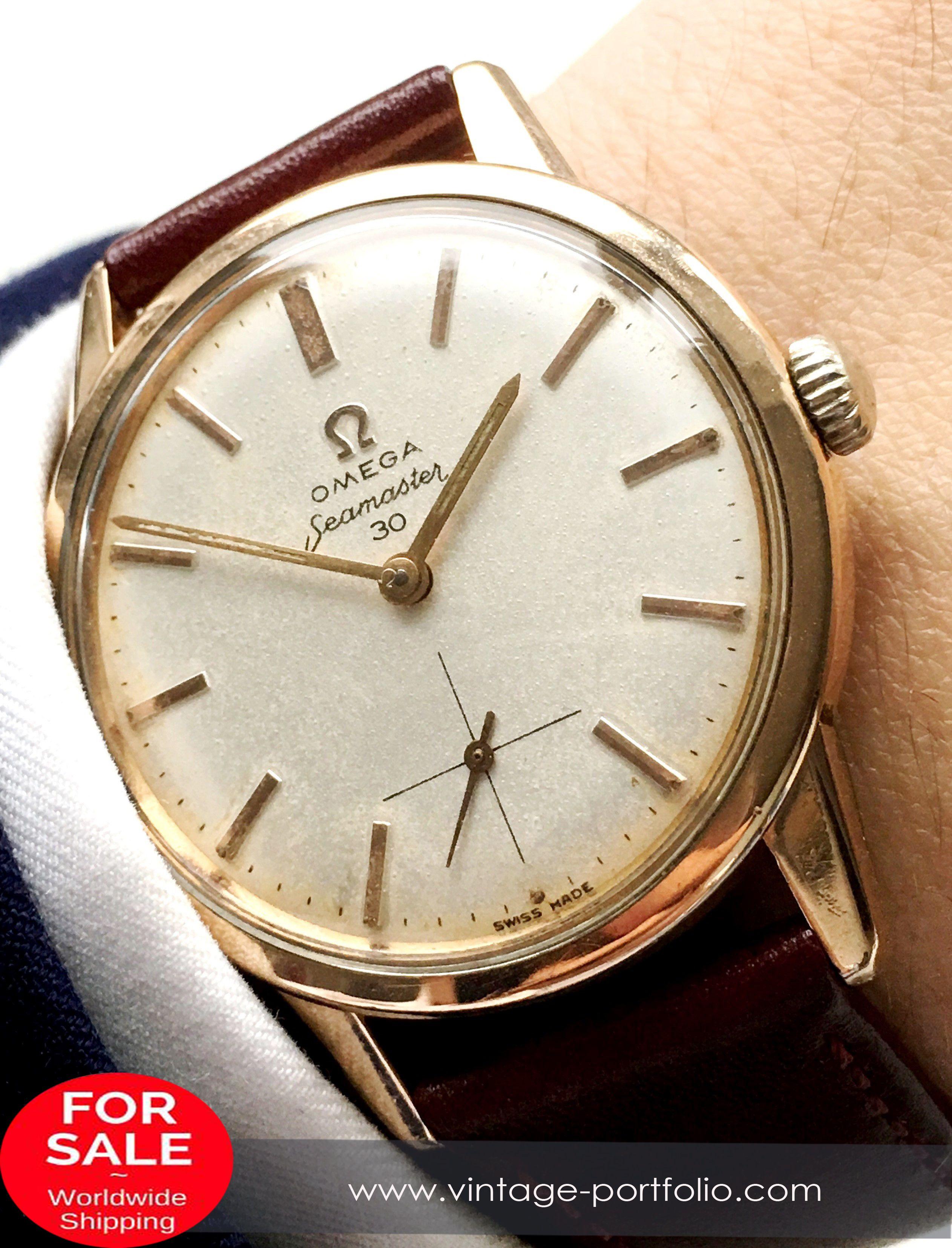 3e67b91852c Pink Gold Plated Omega Seamaster 30 Vintage 35mm  omega  omegawatches   omegaseamaster  seamaster