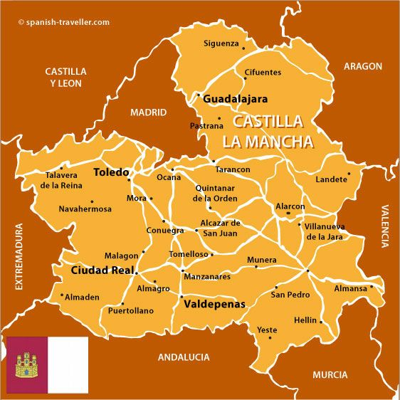 Map of Castilla La Mancha Espanha Pinterest Spain and Castles