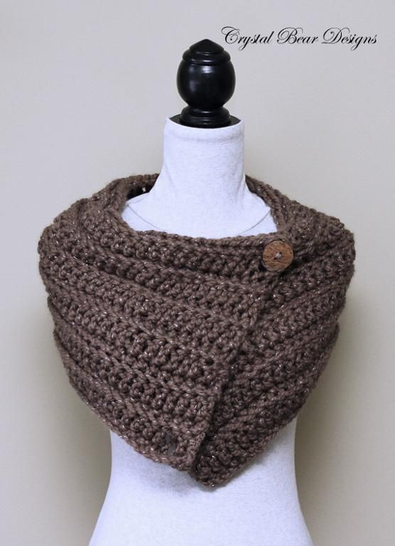Easy Crochet Cowl With Buttons Pattern Easy Crochet Crochet And Easy