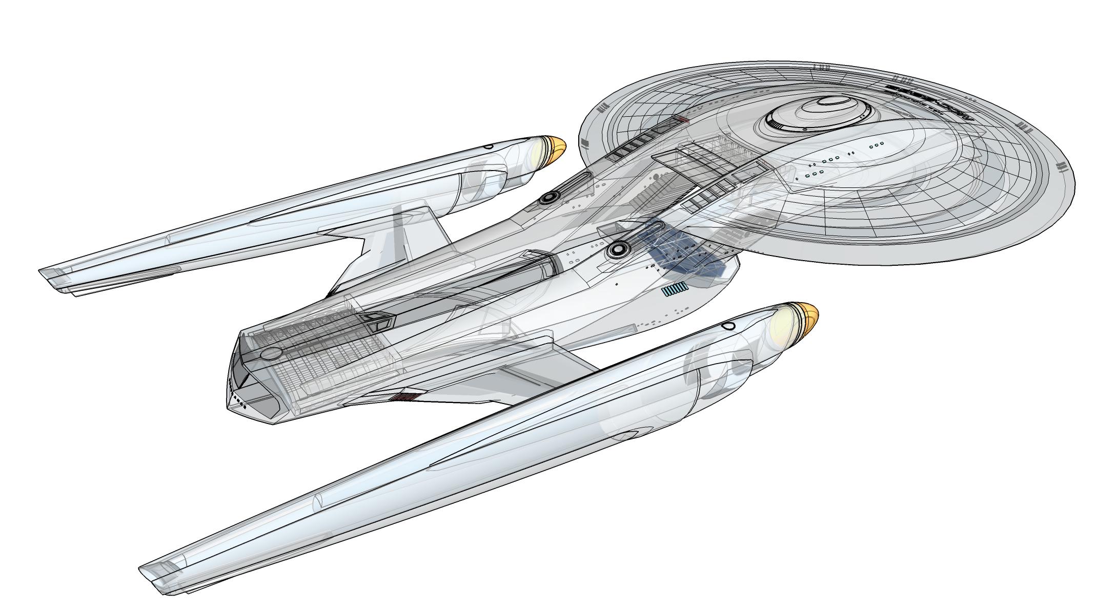 Endurance Wireframe Star Trek Ships Star Trek Starships Star Trek Universe