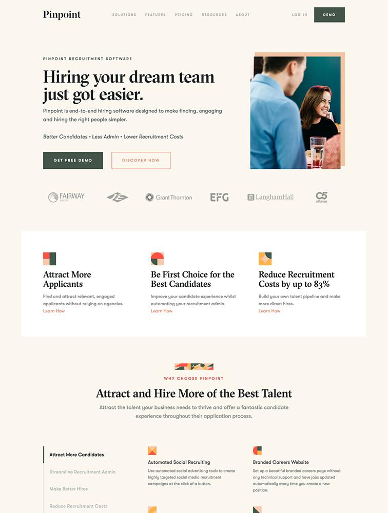 2329 Landing Page Design Inspiration Lapa Ninja Recruitment Agency Website Ideas Recruitmentagen In 2020 Landing Page Design Website Design Inspiration Web Design