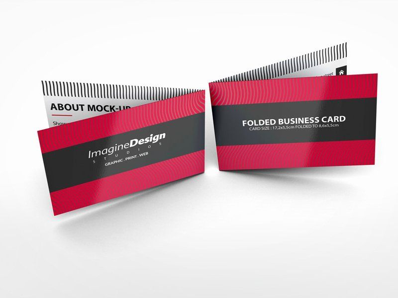 Folding Business Card Template Inspirational Folded Business Card Mockup V1 By Idesig Foldable Business Cards Business Card Template Word Business Card Mock Up