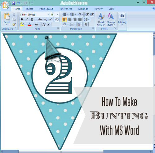 A Typical English Home Tutorial Make Bunting with Microsoft Word - ms word user manual