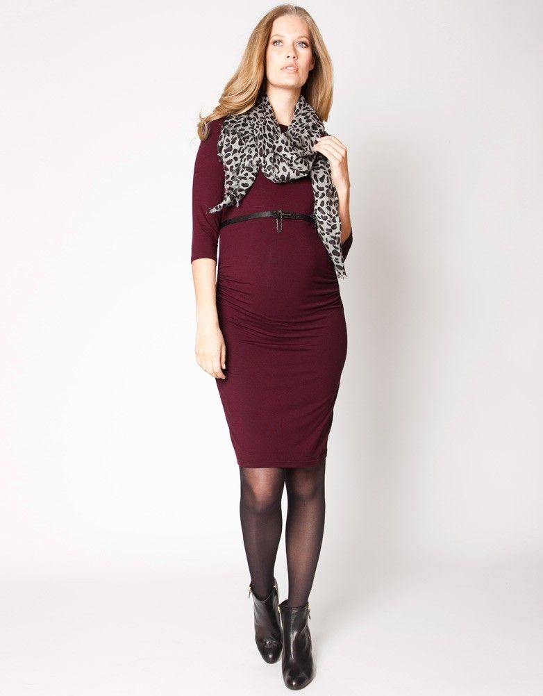6d16e11cac Burgundy Maternity Shift Dress