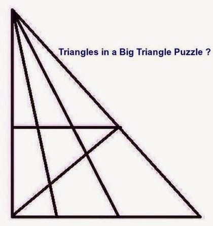 Triangles In A Big Triangle Puzzle How Many Triangles Are There