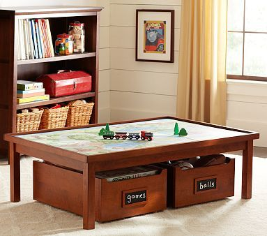Nice Carolina Activity Table U0026 Carts Pottery Barn Kids Stays Playroom (taller  W/shelf)