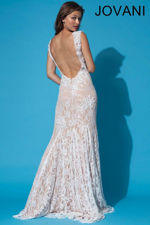 Jovani 90897 | vintage lace \'backless\' wedding dress | vision board ...