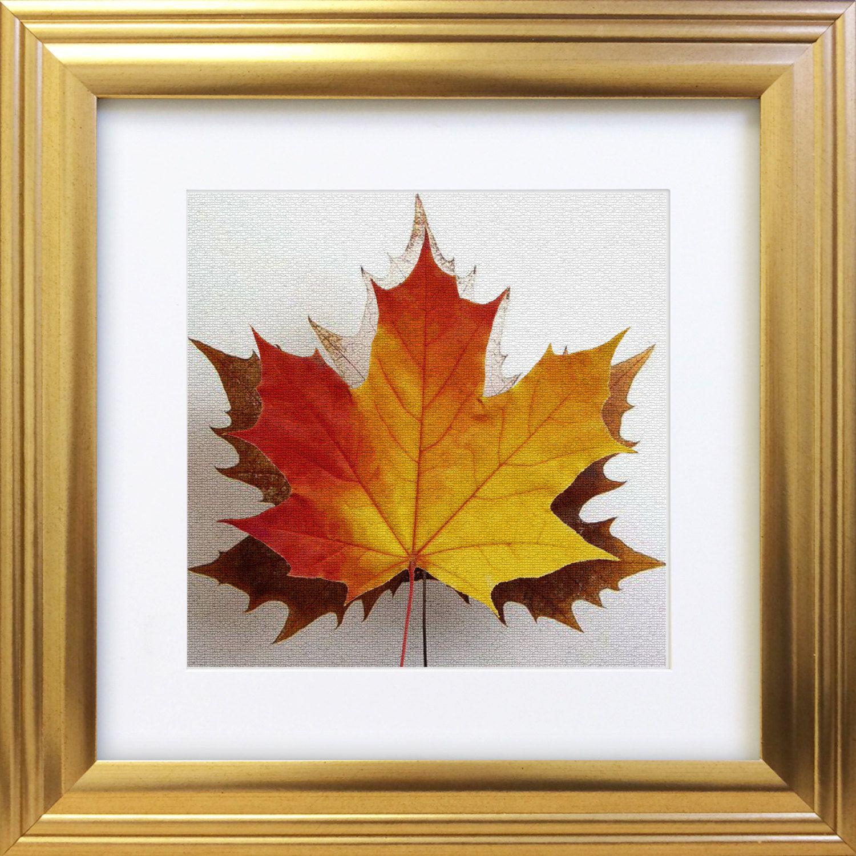 Maple Leaf Mosaic Red Yellow Orange Brown Nature