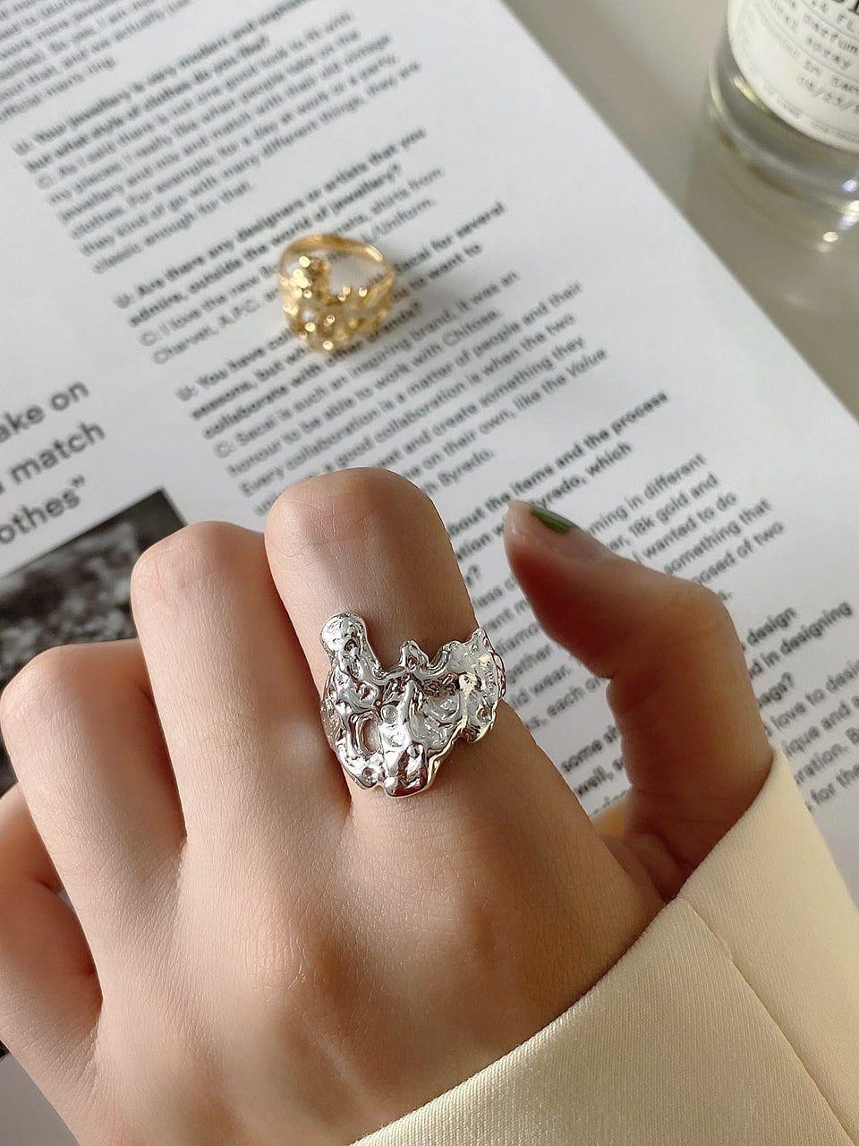 925 Sterling Silver Vintage Irregular Texture Free Size Ring In 2020 925 Sterling Silver Silver Jewels 925 Sterling