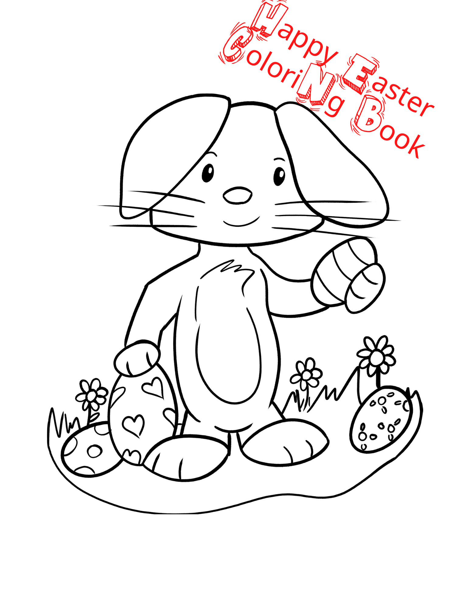 Easter Bunny Coloring Book For Kids In 2020 Toddler Coloring Book Easter Coloring Book Easter Bunny Colouring