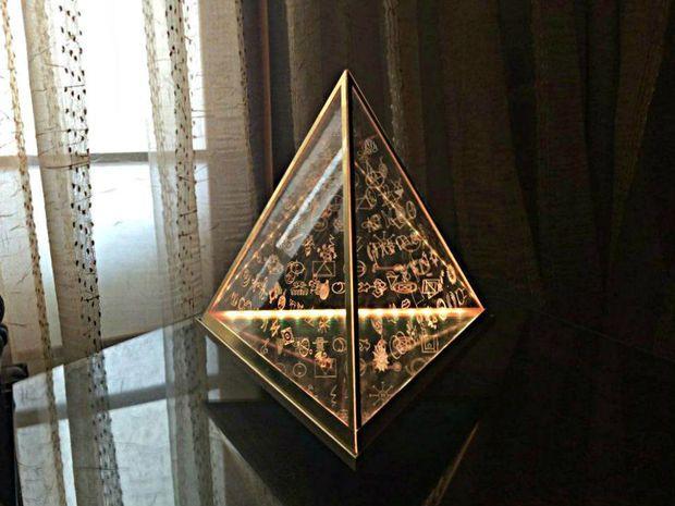 Floating Pyramid Lamp With 108 Spiritual Symbols Symbols And Tutorials