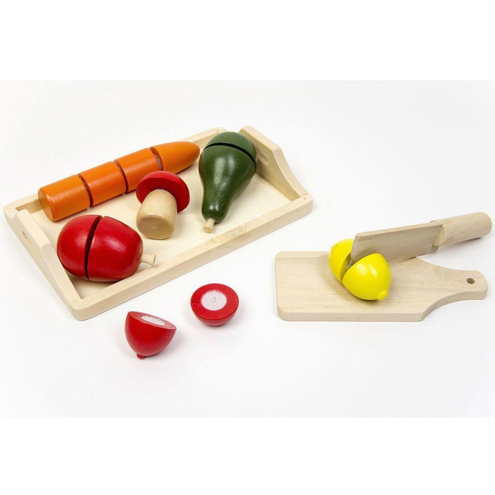 Küchen zubehör kinder  Holz Obst Gemüse für Kaufmannsladen Kinder Spielzeug Küche Zubehör ...