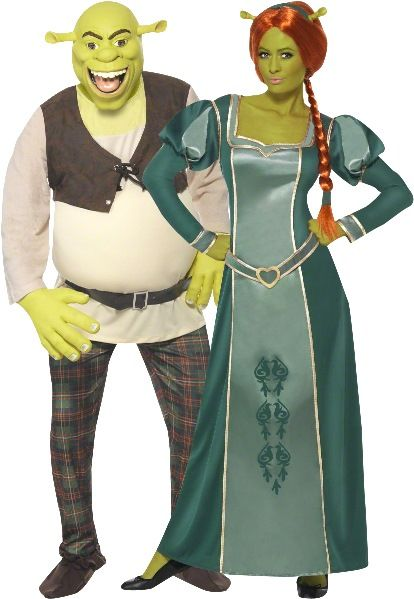 Couples Ladies And Mens Dreamworks Shrek And Fiona Halloween Costumes Couple Halloween Costumes For Adults Couple Halloween Costumes Family Halloween Costumes