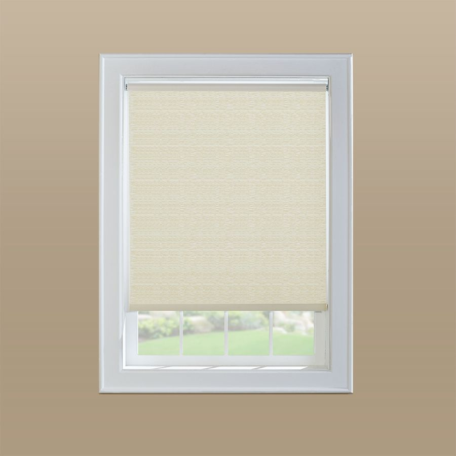 Levolor Cream Light Filtering Cordless Vinyl Roller Shade Common 37 In Actual 36 5 In X 72 In Roller Shades Blinds For Windows Cordless Roller Shade