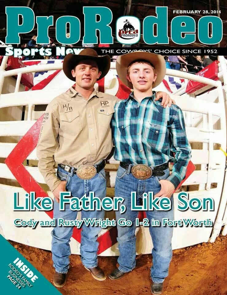 Father Amp Son Cody Amp Rusty Wright 1 Amp 2 In Saddle Bronc