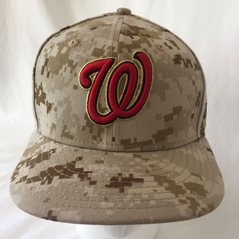 Washington Nationals Baseball Hat Marines USMC Camo Cap New Era 7 1 4  59Fifty  NewEra ffe3aae6f6b