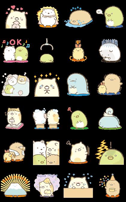 Moving Sumikko Gurashi Animation Cute Stickers Cute Doodles Cute Animal Drawings Kawaii