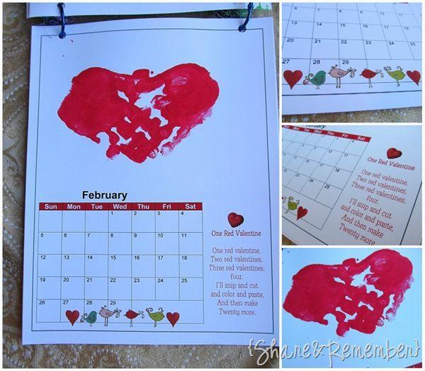 calendar of handprints-cute parent gift Tis the season Pinterest