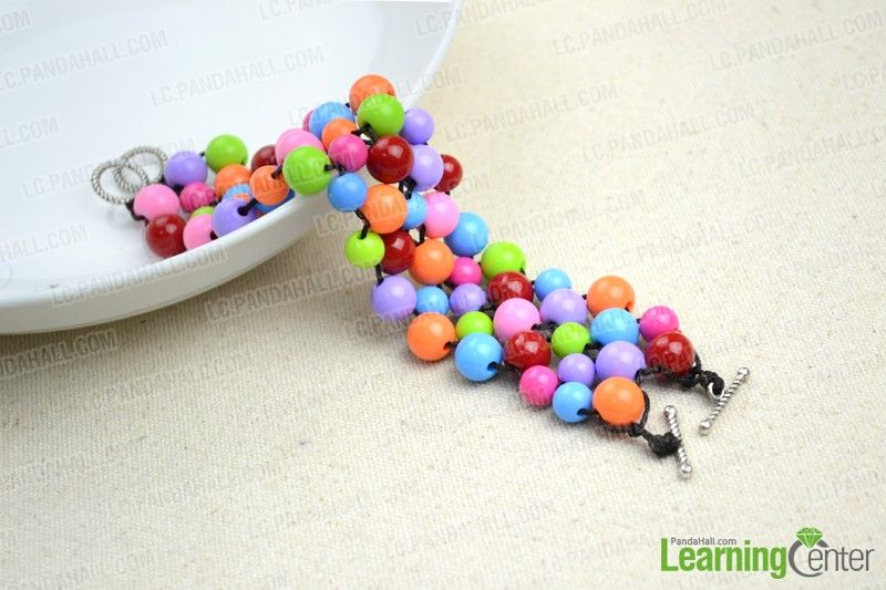 Handmade beaded bracelets out of affordable jewelry making materials - Pandahall.com