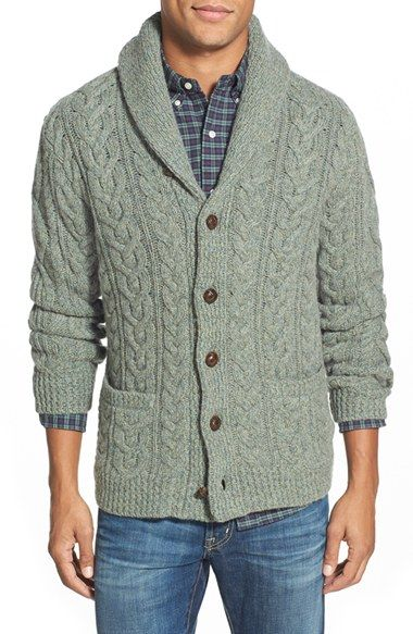 Polo Ralph Lauren Wool Cashmere Cable Knit Shawl Collar Cardigan