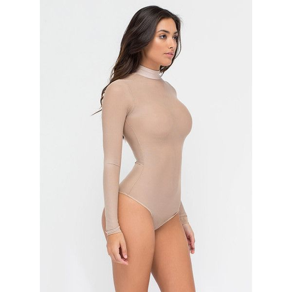 TAN Sheer The View Bodysuit ( 21) ❤ liked on Polyvore featuring intimates 1610b05de9