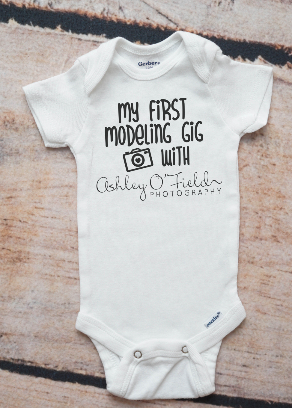 Modeling gig photography client gift photographer onesie newborn girl gift newborn boy gift photo prop newborn photography prop customized afiliate