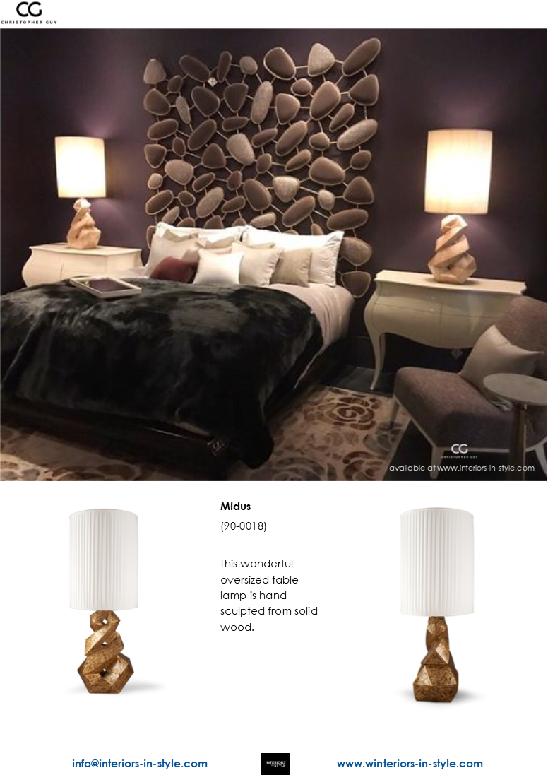 Midus Table Lamp by Christopher Guy
