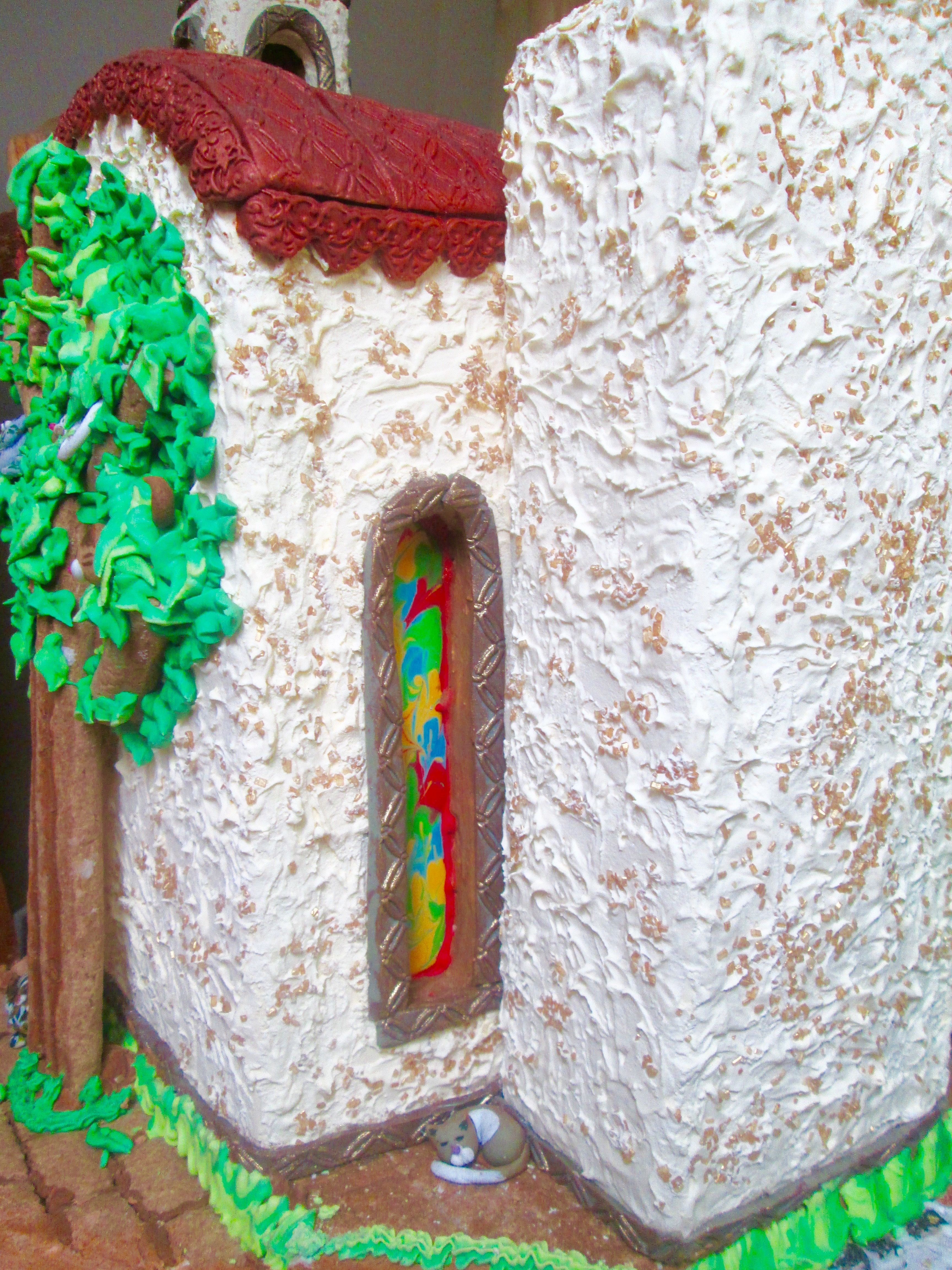 Gingerbread Mexican village close up by Lulu s edible art