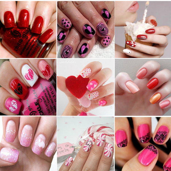 Cute Valentine\'s Day Nail Art - Find Fun Art Projects to Do at Home ...