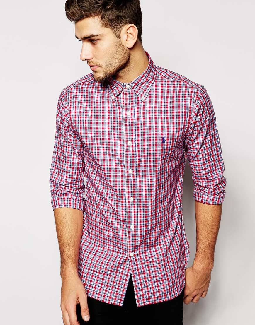 Polo Ralph Lauren Shirt in Slim Fit Oxford Check at asos.com