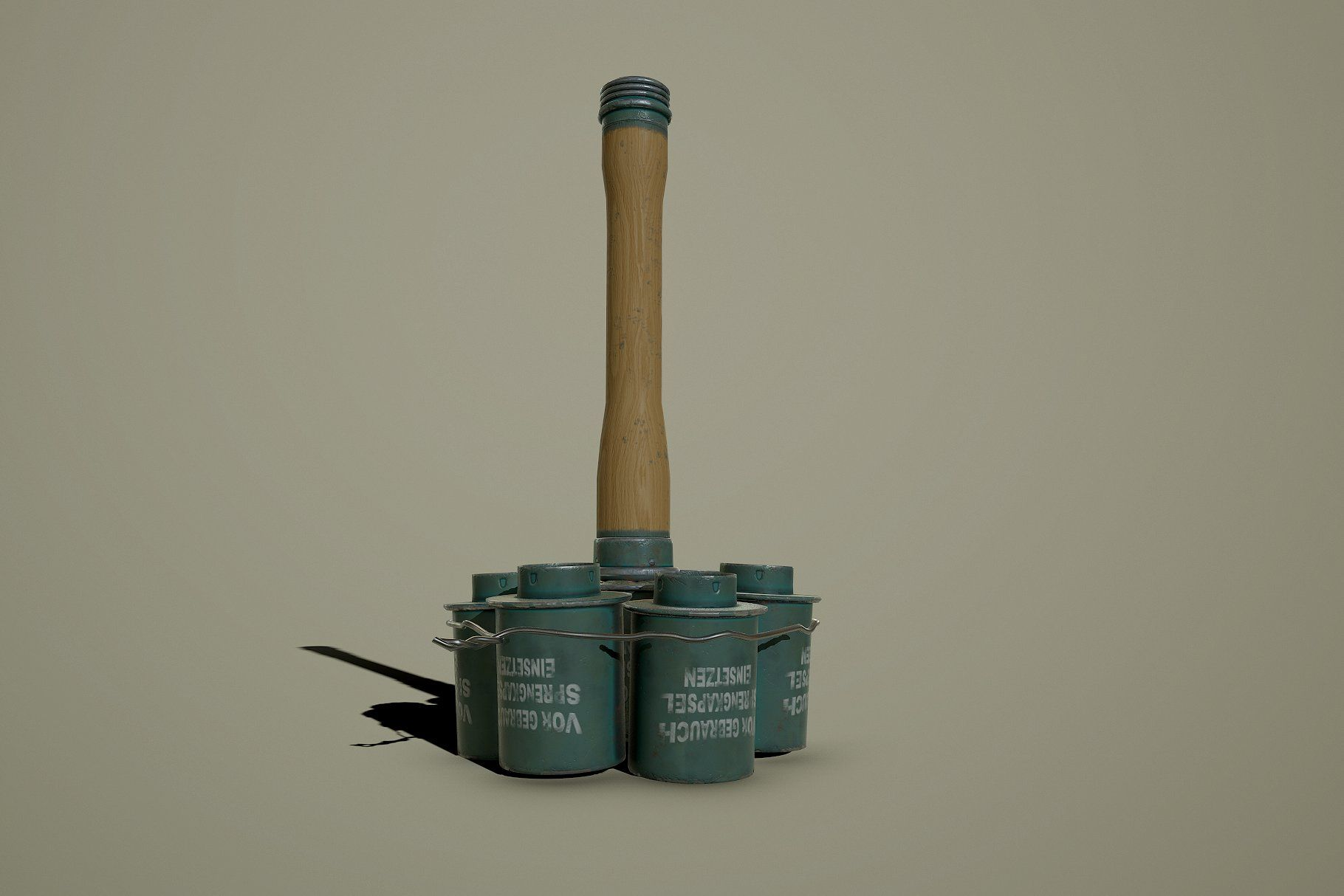 German WWII M24 Stick Grenade Anti-T #poly#Anti#Game#model | 3d